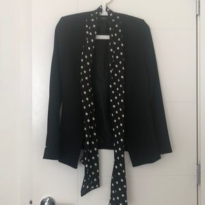 Black Zara Blazer With polka dot accent
